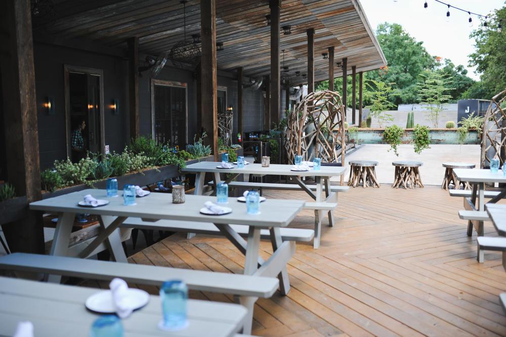 Jacobys restaurant Outdoor Patio in Austin Texas