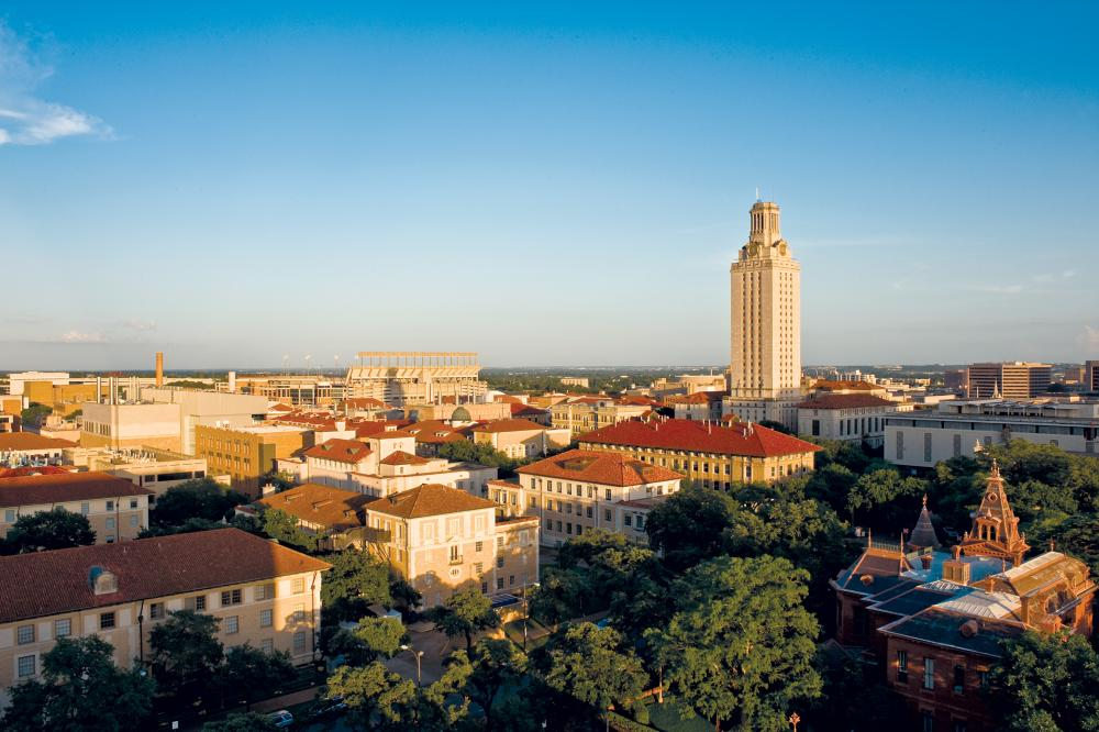 UT Tower and campus in Austin Texas