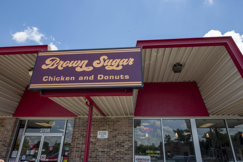 Brown Sugar Chicken and donuts Sign