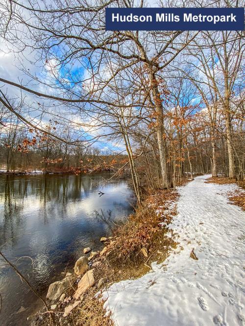 Hudson Mills Metropark in the Winter
