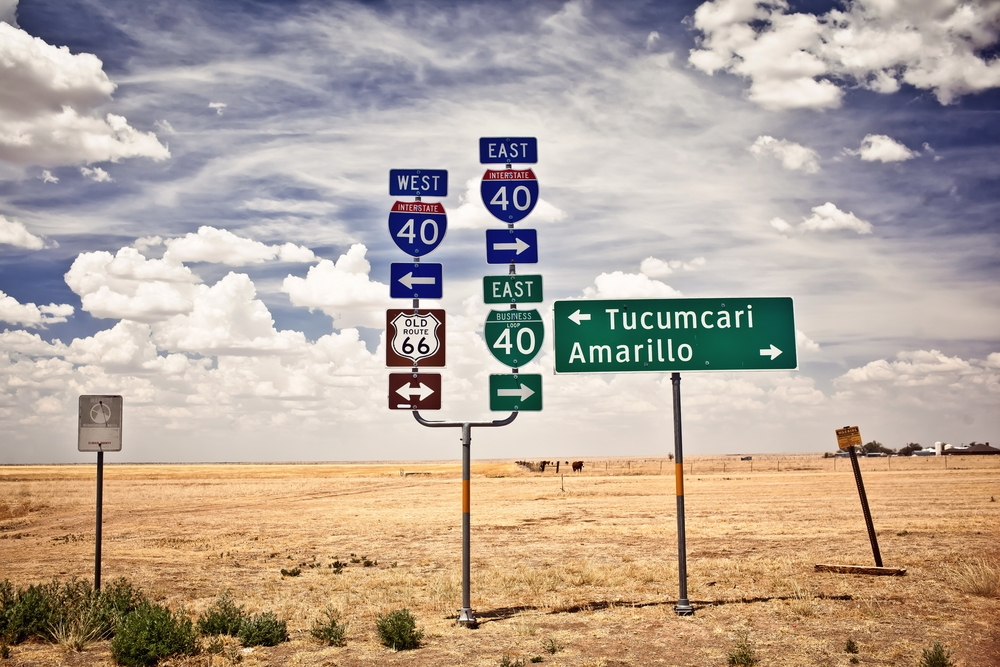 Highway Signs to Amarillo