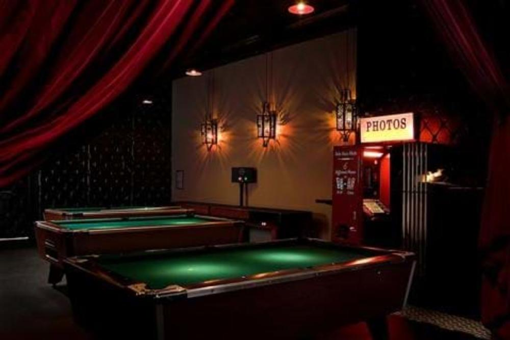 Pool tables at The District Lounge