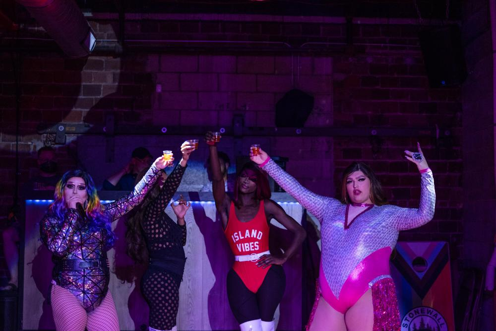 LGBTQ friendly business Banks Ave Bar hosts a drag show