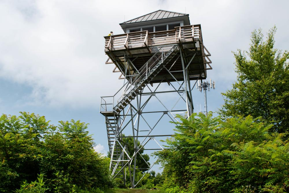 Rich Mountain Fire Tower on the Appalachian Trail near Asheville, NC
