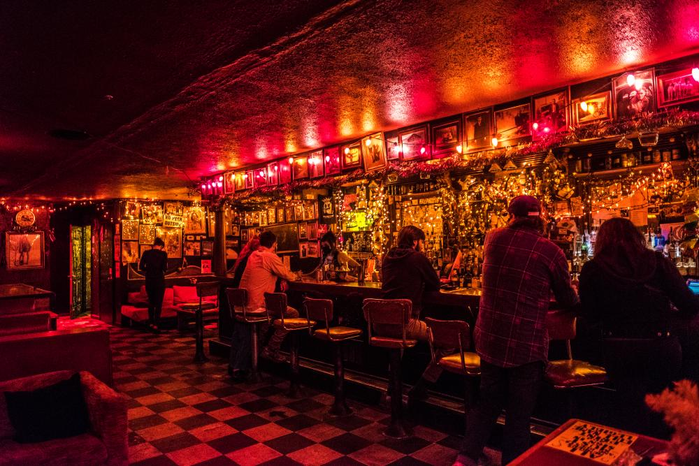 LGBTQ friendly Double Crown bar in West Asheville