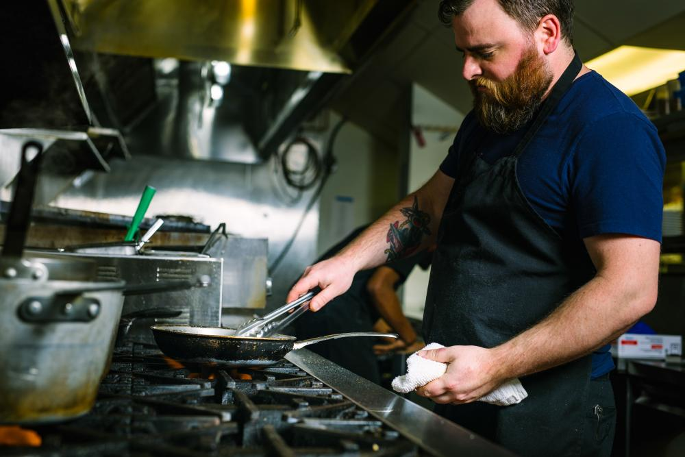 Peter Crockett, Executive Chef at Isa's French Bistro in downtown Asheville, NC