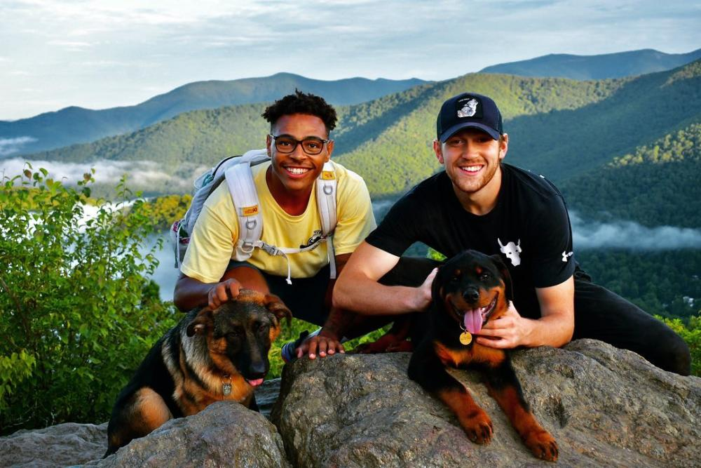 Hiking with dogs in the Blue Ridge Mountains