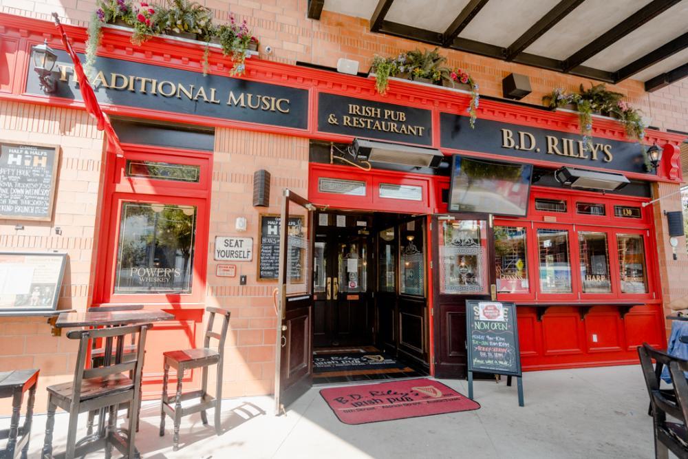 Exterior of BD Rileys Irish Pub at Mueller in Austin Texas