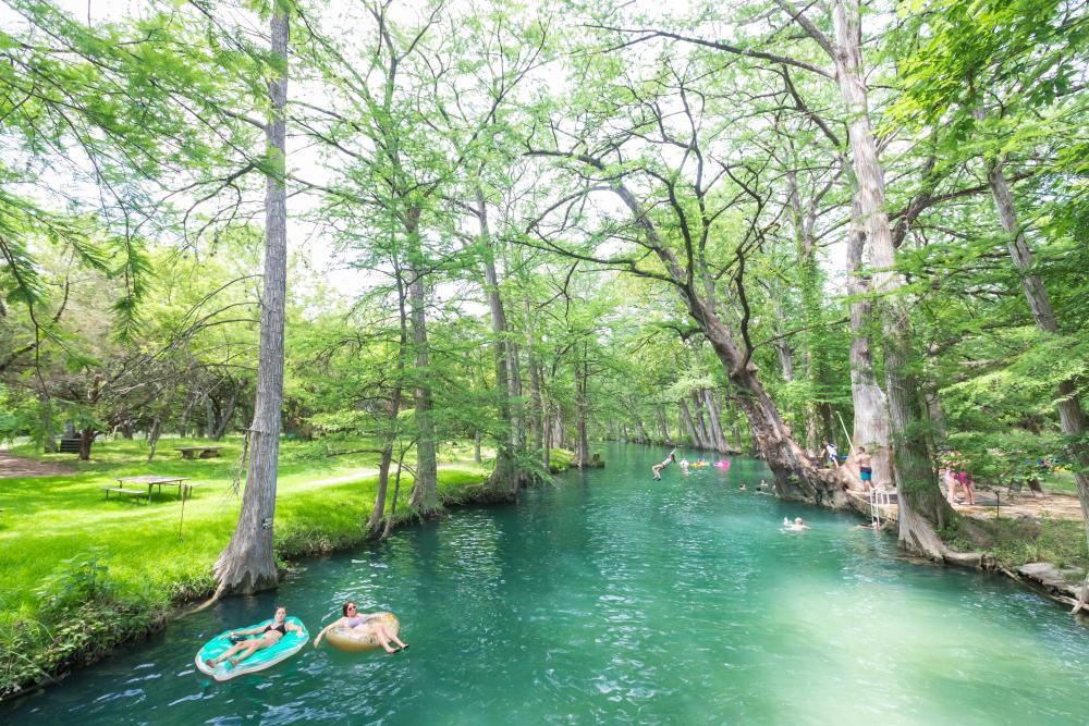 Blue Hole swimming hole in Wimberley texas near austin