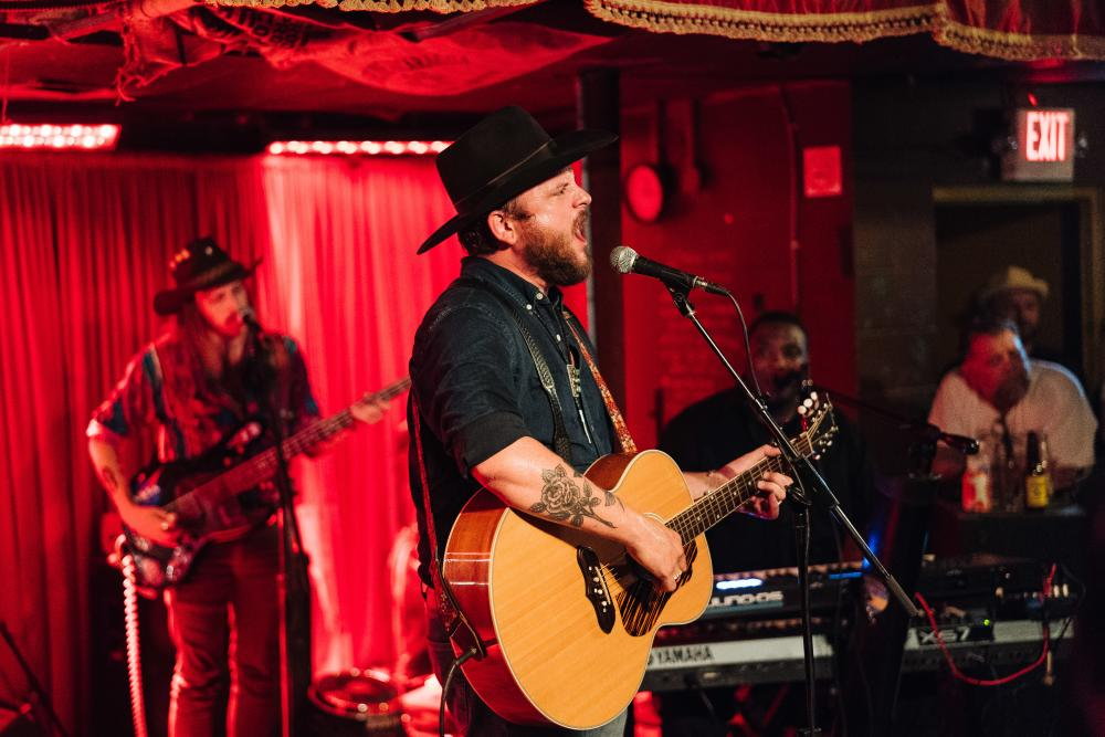 Paul Cauthen and band at the White Horse during Hot Luck Fest in Austin Texas