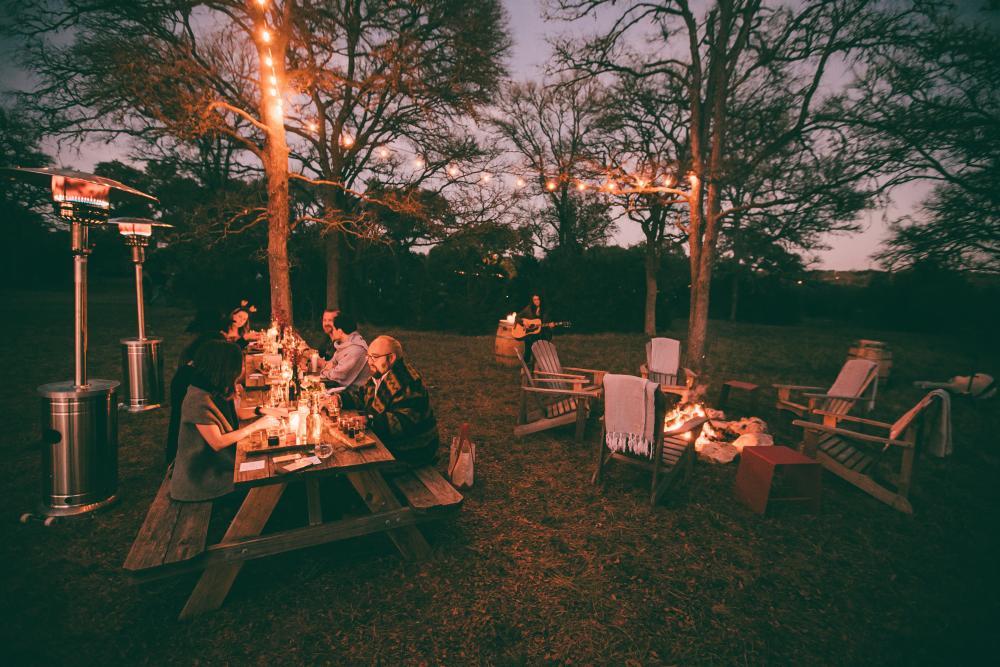 outdoor gathering at Vista Brewing in Austin Texas