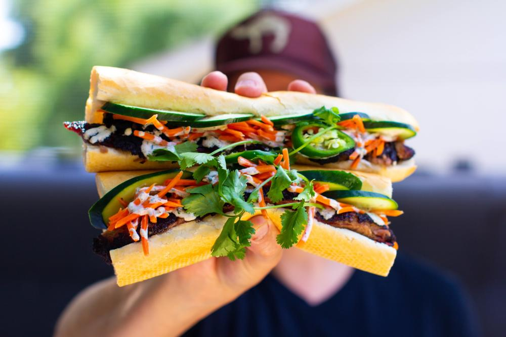 Bahn Mi sandwich from Smokin Beauty in Austin Texas