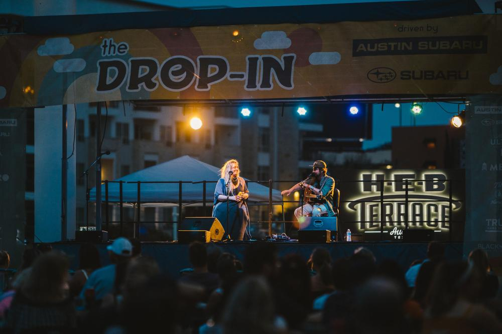 Wild Child Duo at The Drop In Summer Concert Series in Austin Texas