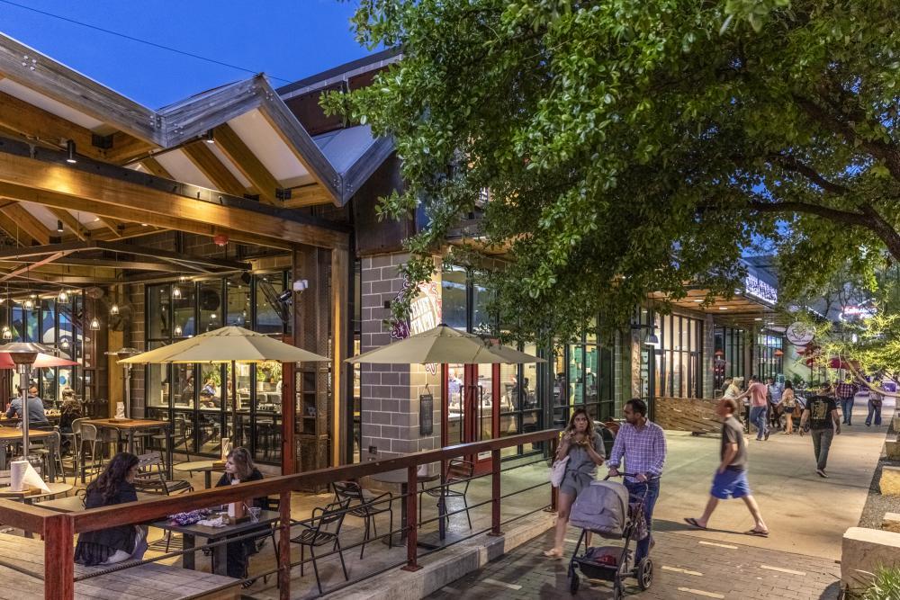Exterior of Velvet Taco restaurant at Domain Northside