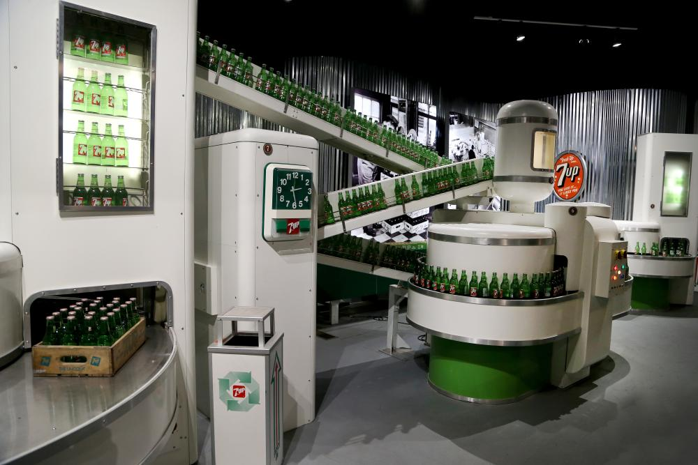 Vintage 7up production model at the Dr Pepper Museum in Waco Texas