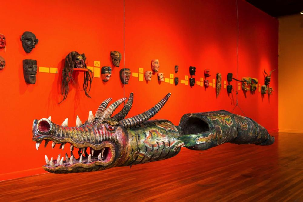 dragon exhibition at mexic arte museum in austin texas