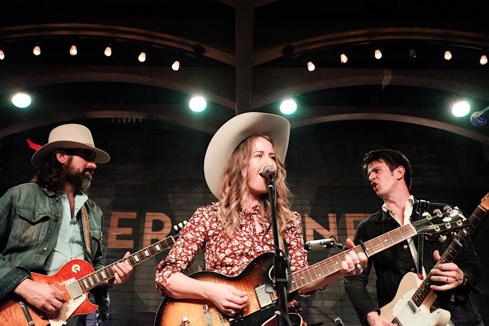 Margot Price and Band of Heathens on stage at Geraldines in Austin Texas
