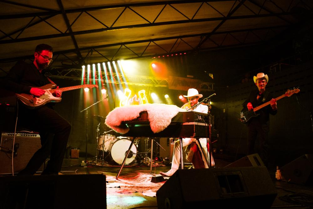 Robert Ellis and band perform at Mohawk during Hot Luck Fest in Austin Texas