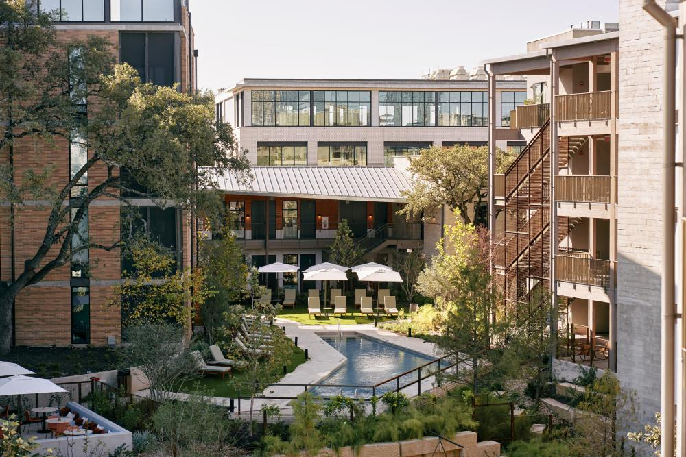 Hotel Magdalena Exterior and Pool In Austin, TX