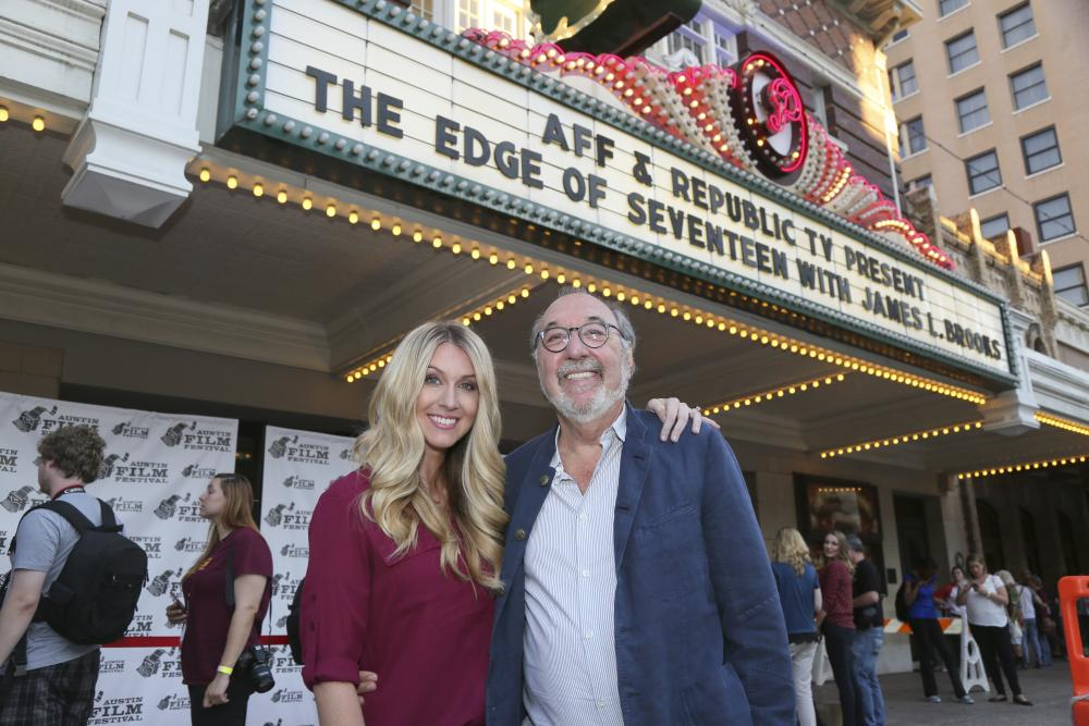 James L Brooks and Kelly Fremon Craig at The Edge Of Seventeen screening for Austin Film Festival