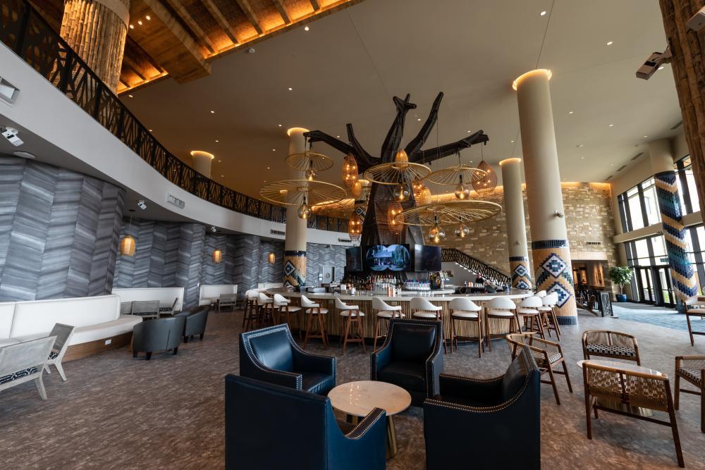 Lobby Bar at Kalahari Resort near Austin Texas