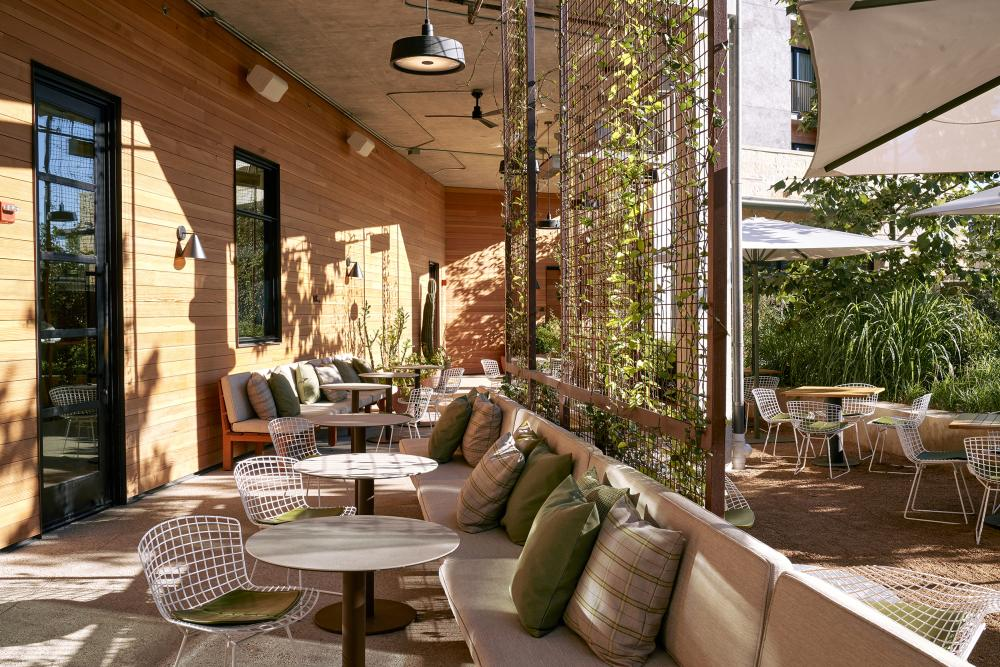 Outdoor Patio at Summer House On Music Lane restaurant in Austin Texas