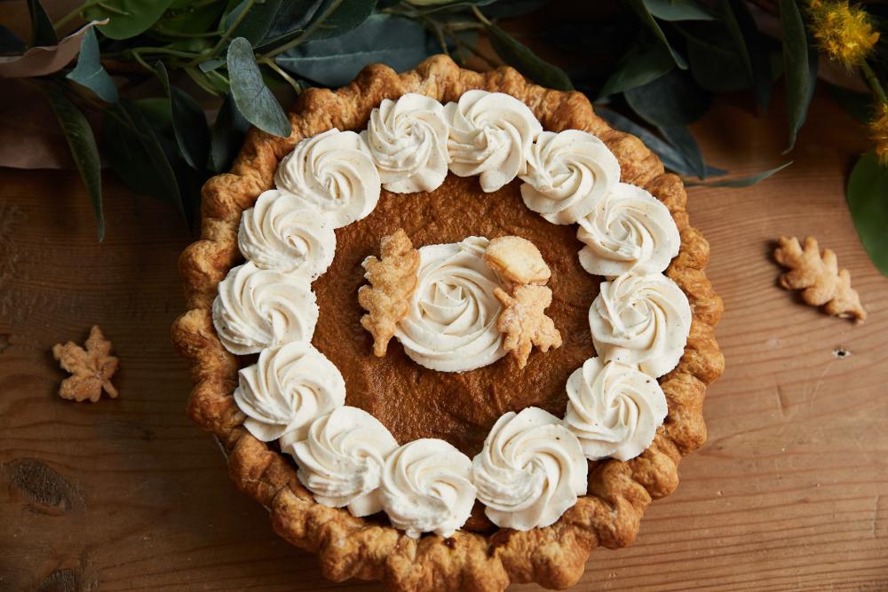 Pumpkin pie from Tiny Pies in austin texas