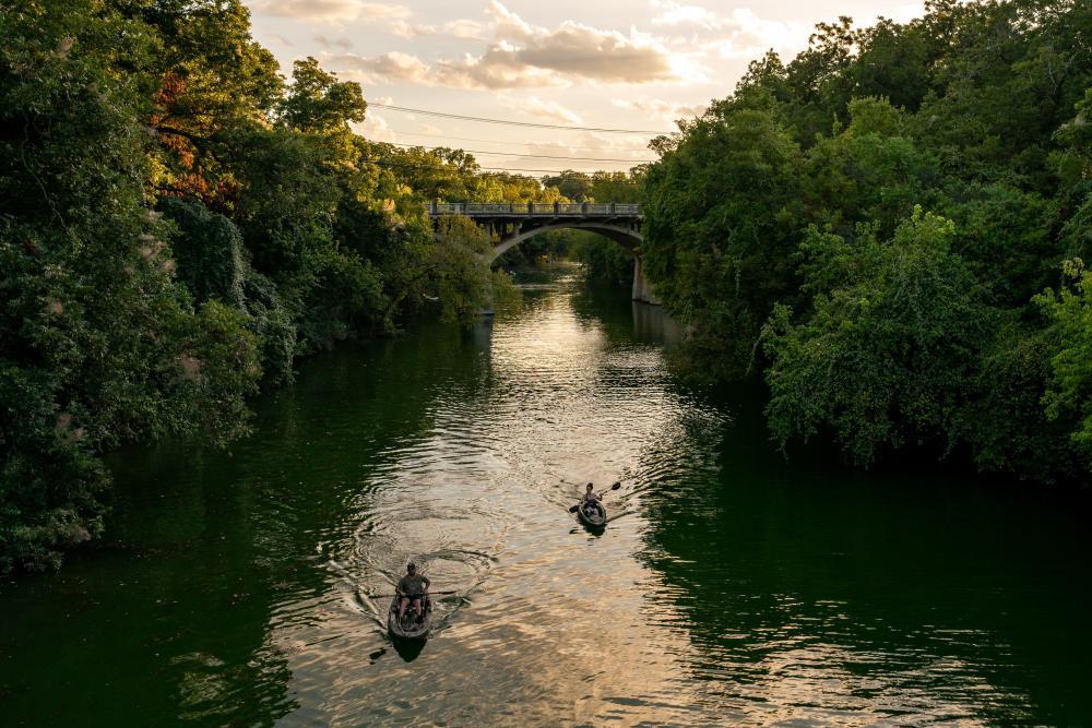 Barton Creek Kayakers near Zilker Park in Austin Texas