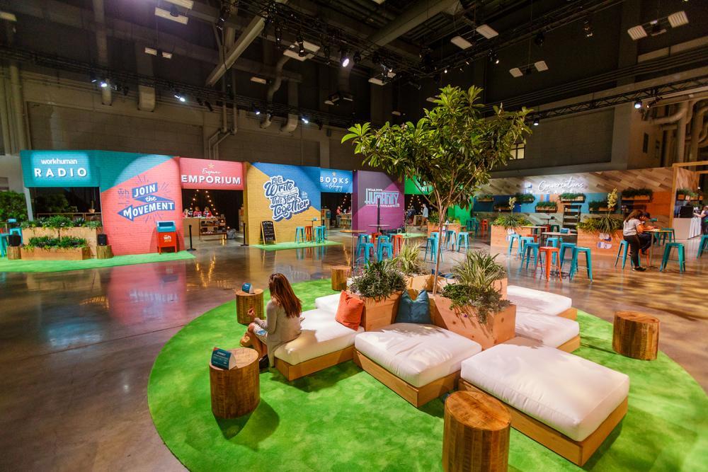 Austin Convention Center decor for Globoforce WorkHuman 2018 meeting