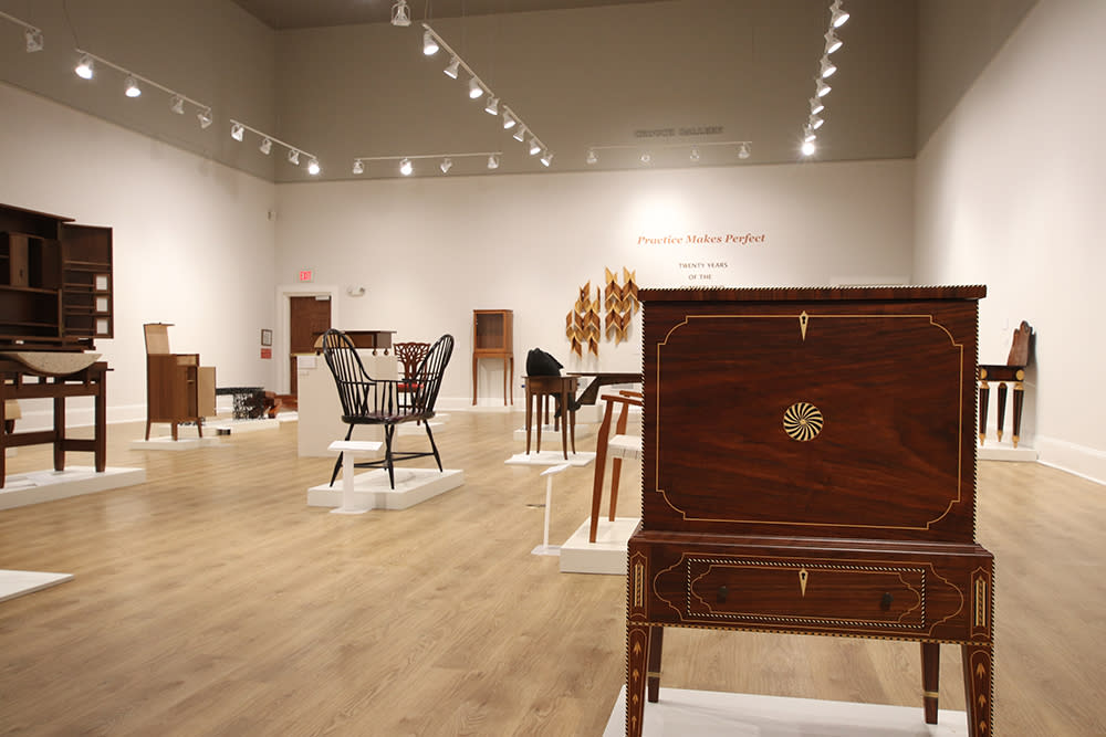 furniture exhibit at the museum