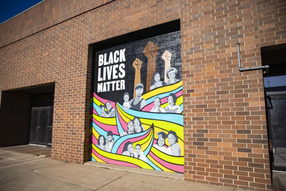 Black Lives Matter Mural in Downtown Eau Claire