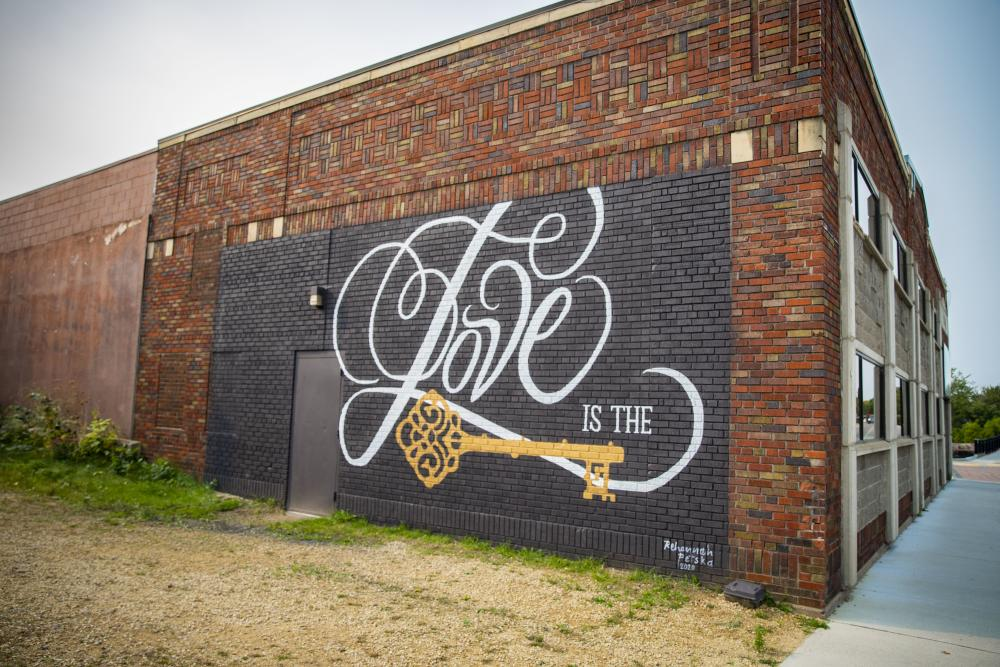 Love is the Key Mural on The Metro in Downtown Eau Claire, WI
