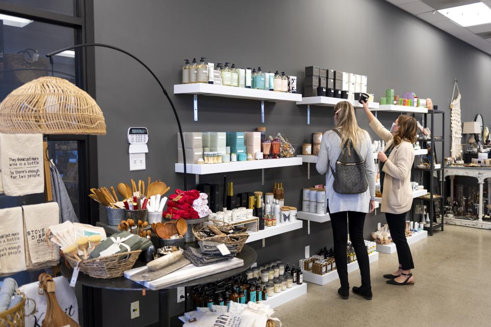 Women shopping at The Find boutique store in Fort Wayne