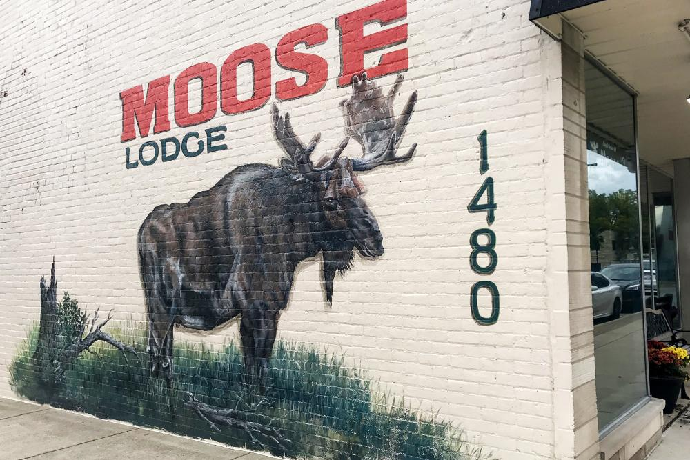 Moose Lodge Mural in New Haven, Indiana
