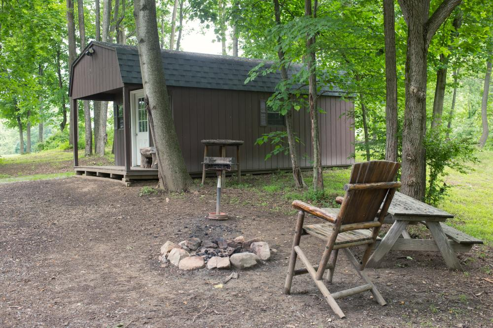 Harper's Ferry Cabins and campfire pit