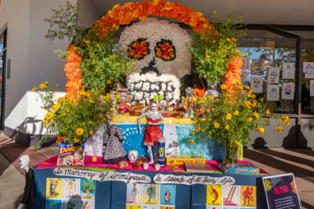 Day of the Dead Workshops display at Arts Council of Princeton