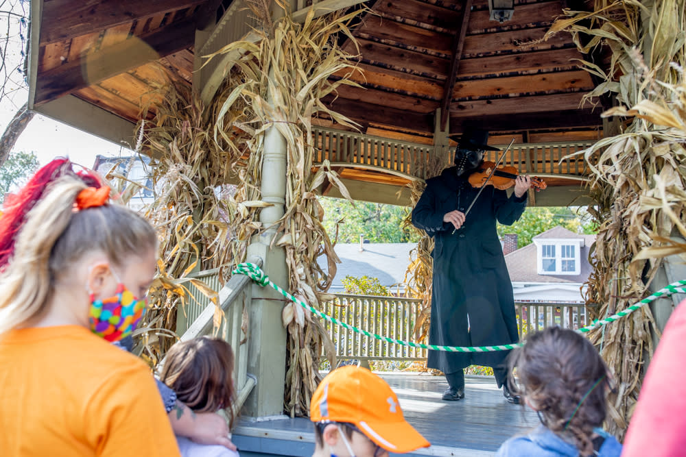 Plague Doctor in the Gazebo at Legends and Lanterns in St Charles
