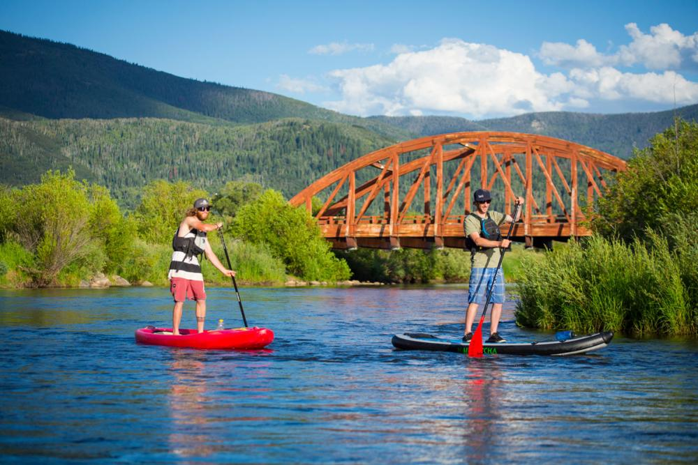 Stand Up Paddle Boarding on the Yampa River