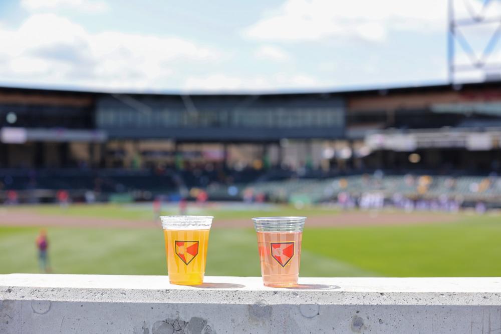 Two Drinks at Riverfront Stadium