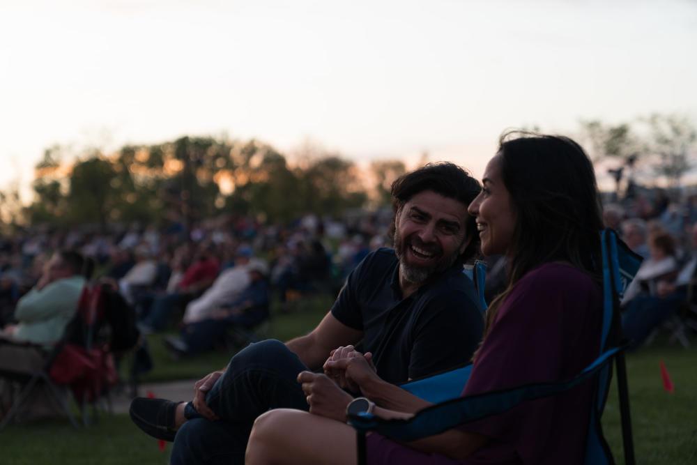 Couple Enjoying an Outdoor Concert