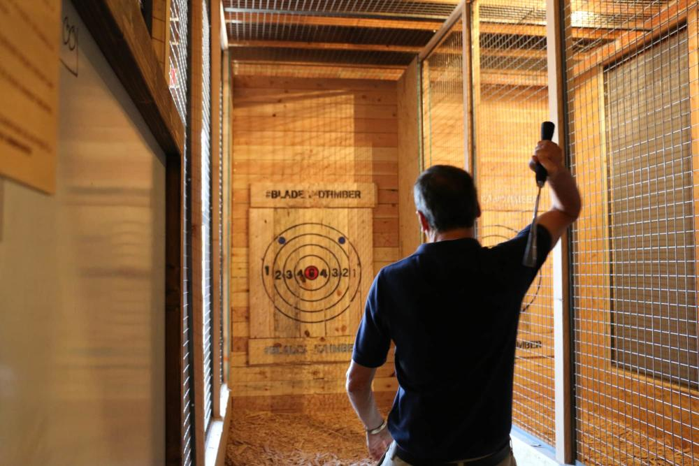 Throwing Axes at Blade & Timber
