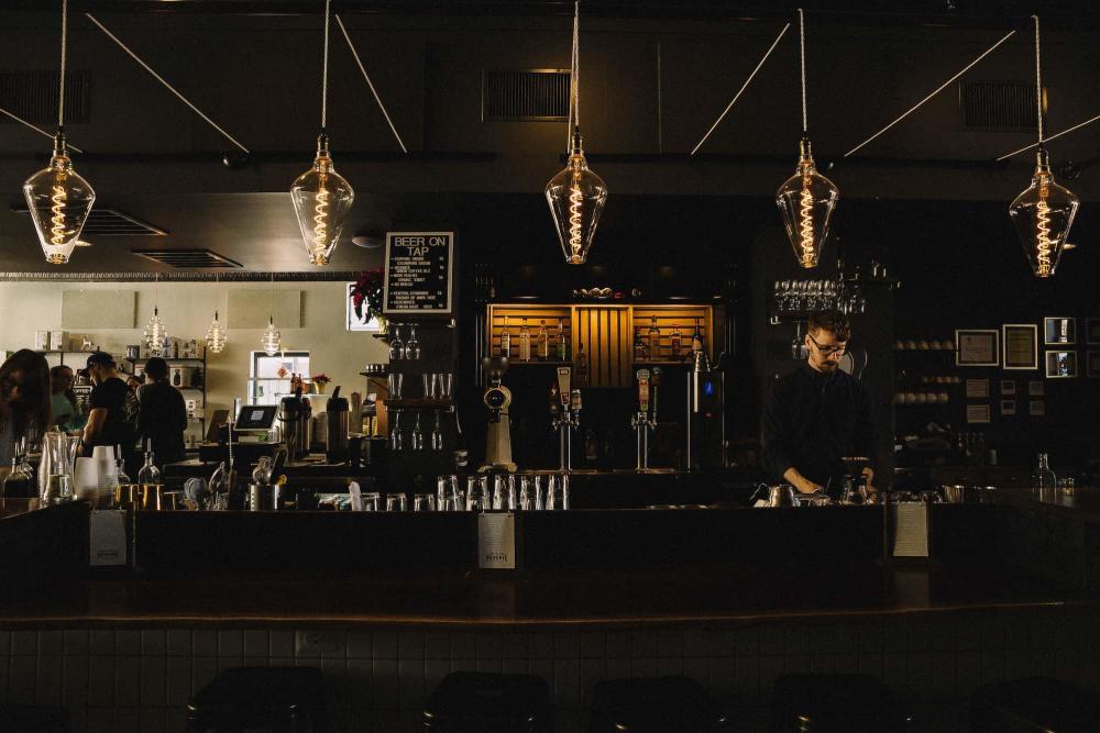 Bar at Reverie Roasters in Wichita