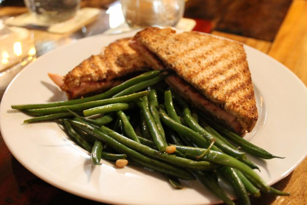 Turkey Sandwich and Green Beans from Public at the Brickyard