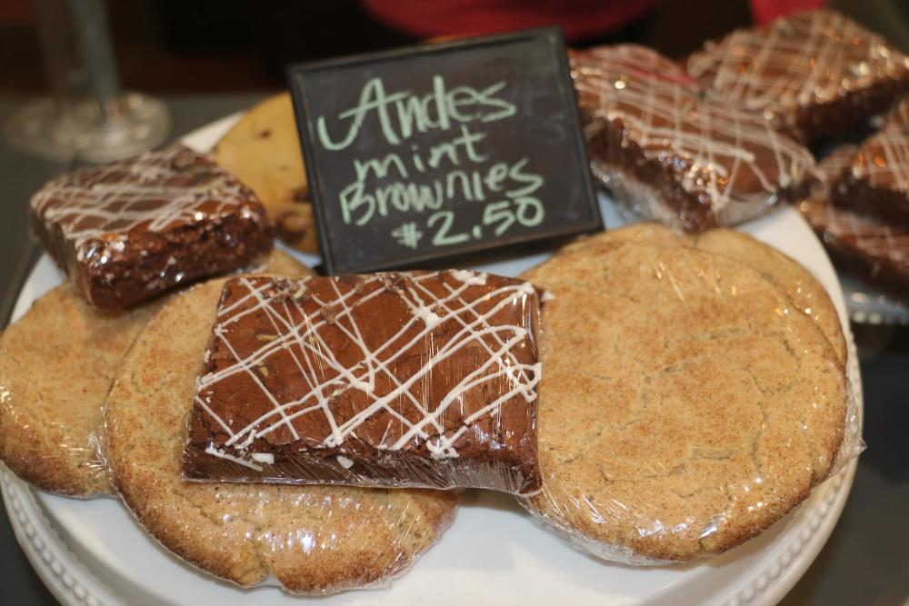 Andes Mint Brownies and Cookies at Monicas Bundt Cake