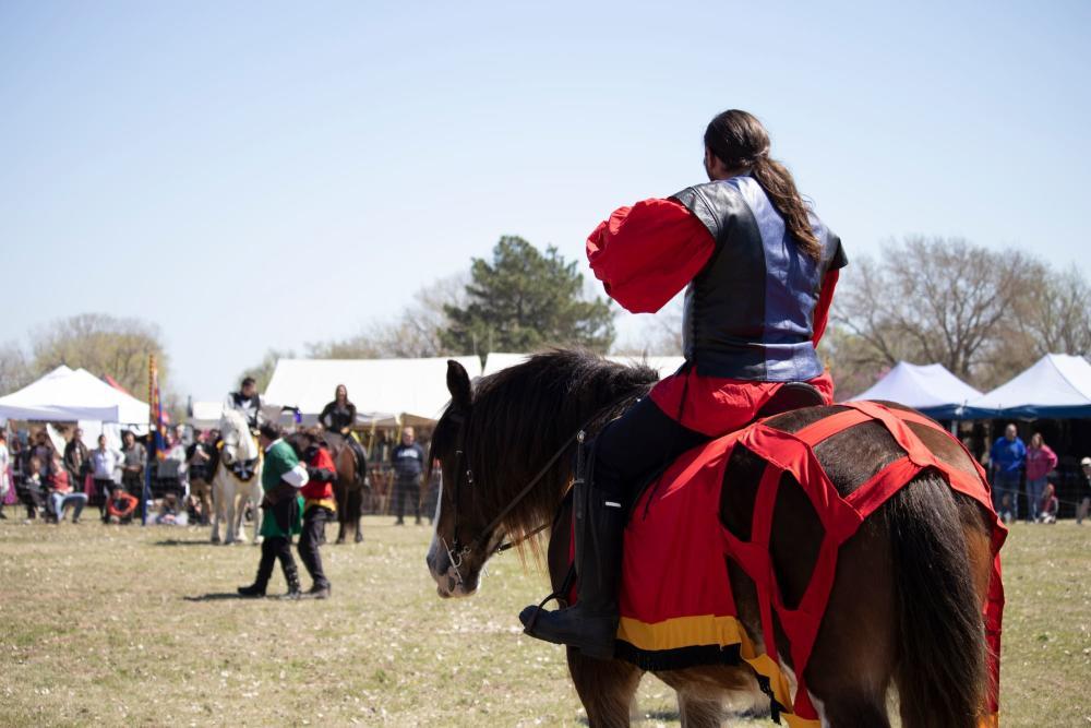 Preparing to Joust at the Great Plains Renaissance Faire