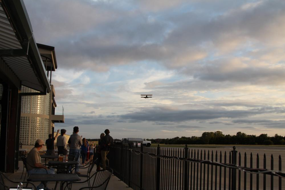 Watching Airplanes Take-off at Stearman Field
