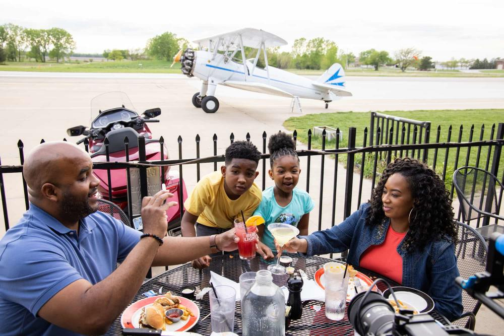 Dinner at Stearman Field Bar and Grill