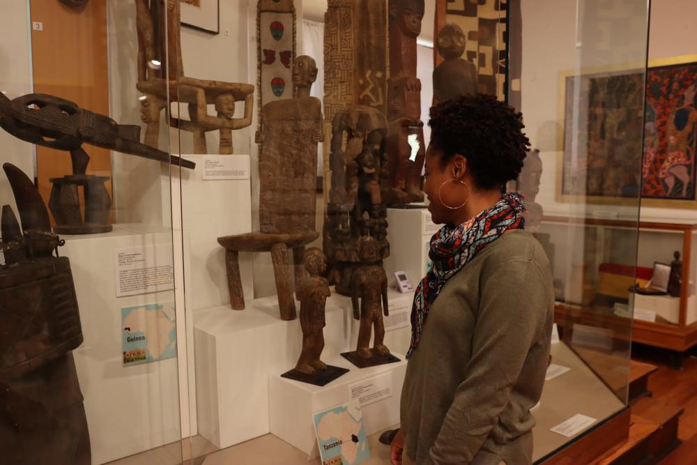 Admiring Exhibits at The Kansas African American Museum