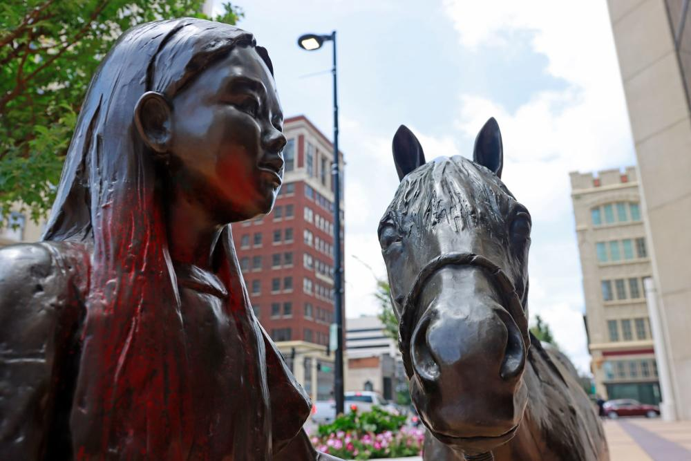 Girl with Horse Bronze Sculpture