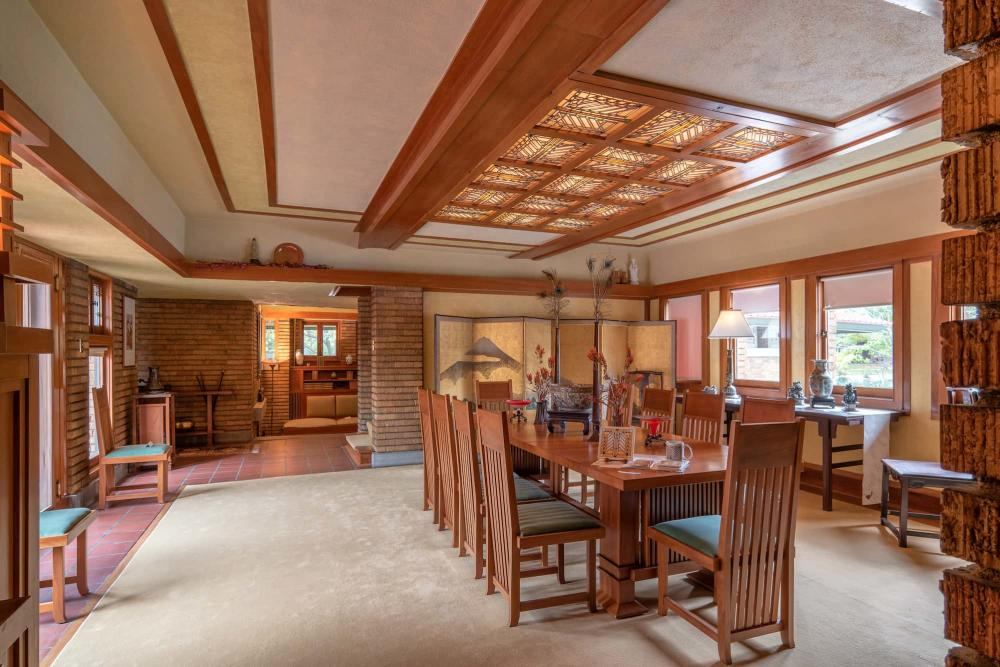 Dining Room at Frank Lloyd Wright's Allen House in Wichita